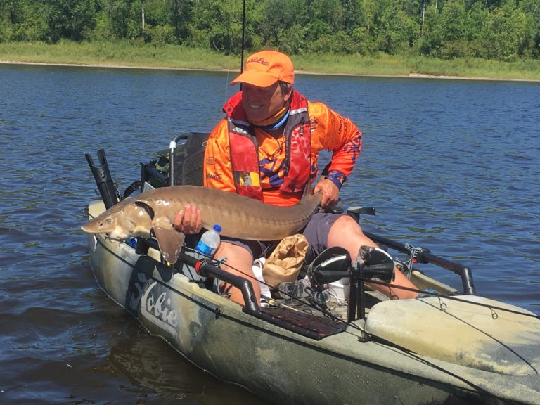 Kayak Angling for Sturgeon Brings New Sport to the Northwoods Story by- Mike Pehanich_9724